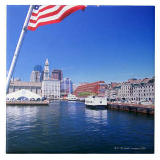 USA, Massachusetts, Boston, Boston harbour, Tile