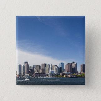 USA, Massachusetts, Boston, City skyline and 15 Cm Square Badge