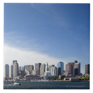 USA, Massachusetts, Boston, City skyline and Large Square Tile