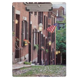 USA, Massachusetts, Boston, Houses Along Acorn Clipboard