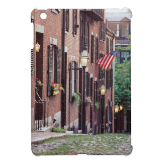 USA, Massachusetts, Boston, Houses Along Acorn iPad Mini Cover