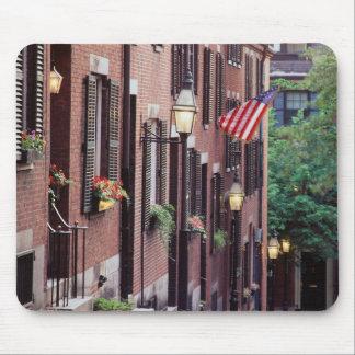 USA, Massachusetts, Boston, Houses Along Acorn Mouse Mat