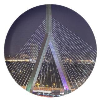 USA, Massachusetts, Boston. Leonard Zakim Dinner Plate