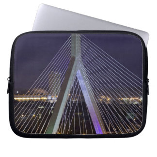 USA, Massachusetts, Boston. Leonard Zakim Laptop Sleeve