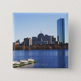 USA, Massachusetts, Boston skyline 15 Cm Square Badge
