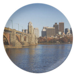 USA, Massachusetts, Boston skyline 2 Party Plates