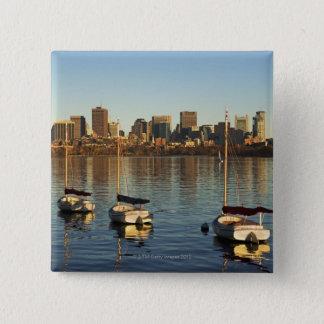 USA, Massachusetts, Boston skyline 3 15 Cm Square Badge
