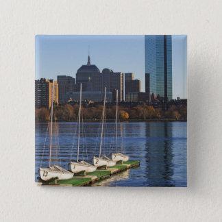 USA, Massachusetts, Boston skyline 4 15 Cm Square Badge