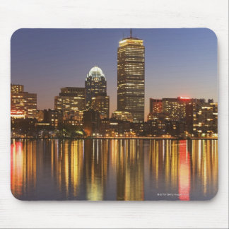 USA, Massachusetts, Boston skyline at dusk 2 Mouse Mat