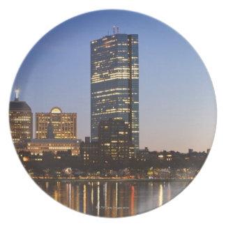 USA, Massachusetts, Boston skyline at dusk Plate