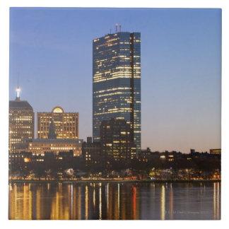 USA, Massachusetts, Boston skyline at dusk Tile