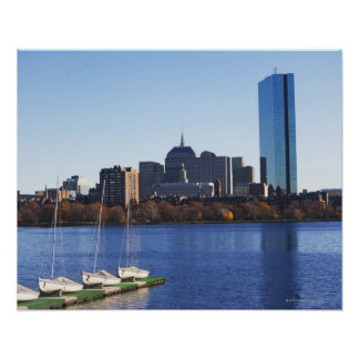 USA, Massachusetts, Boston skyline Poster