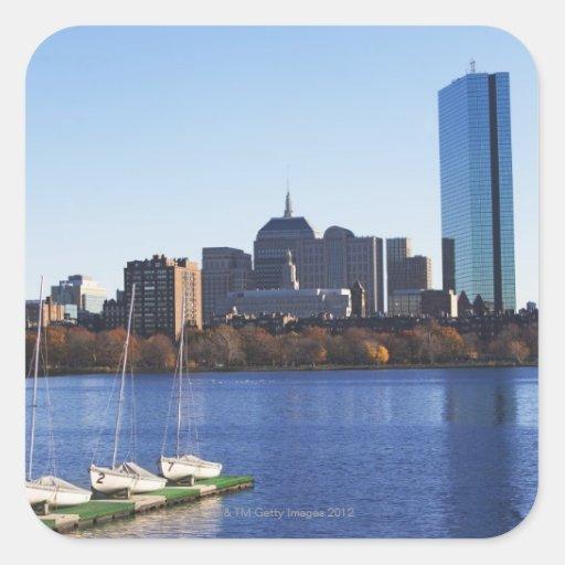USA, Massachusetts, Boston skyline Square Sticker