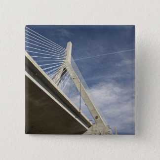 USA, Massachusetts, Boston. The Zakim Bridge. 15 Cm Square Badge