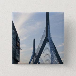USA, Massachusetts, Boston. The Zakim Bridge. 2 15 Cm Square Badge