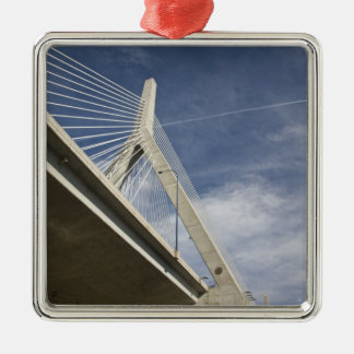 USA, Massachusetts, Boston. The Zakim Bridge. Christmas Ornament