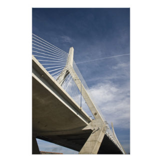 USA, Massachusetts, Boston. The Zakim Bridge. Photo Print