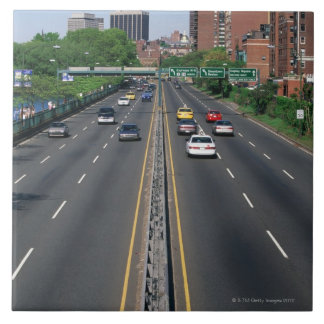 USA, Massachusetts, Boston, traffic on Storrow Large Square Tile