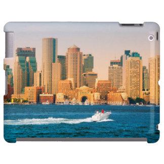 USA, Massachusetts. Boston Waterfront Panorama iPad Case