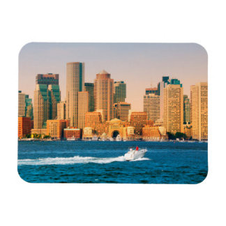 USA, Massachusetts. Boston Waterfront Panorama Magnet