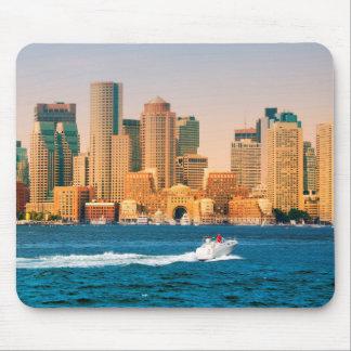 USA, Massachusetts. Boston Waterfront Panorama Mouse Mat