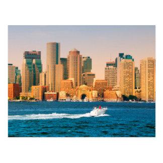USA, Massachusetts. Boston Waterfront Panorama Postcard