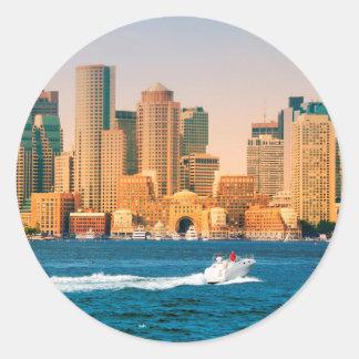 USA, Massachusetts. Boston Waterfront Panorama Stickers