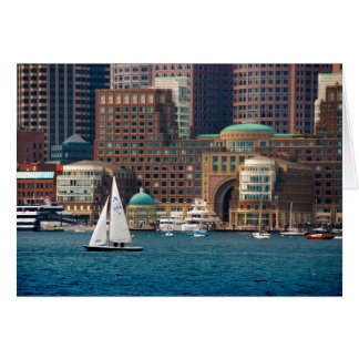 USA, Massachusetts. Boston Waterfront Skyline 2 Card