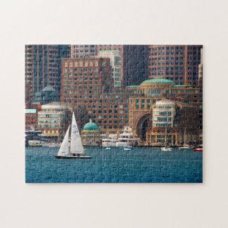 USA, Massachusetts. Boston Waterfront Skyline 2 Jigsaw Puzzle