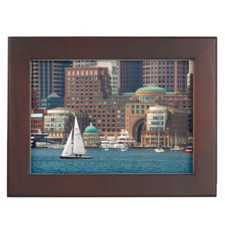 USA, Massachusetts. Boston Waterfront Skyline 2 Keepsake Box