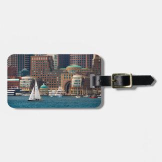 USA, Massachusetts. Boston Waterfront Skyline 2 Luggage Tag