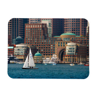 USA, Massachusetts. Boston Waterfront Skyline 2 Magnet