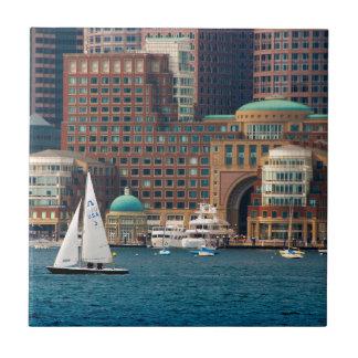USA, Massachusetts. Boston Waterfront Skyline 2 Tile