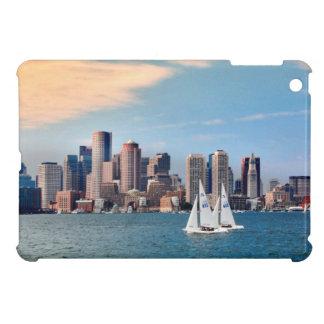 USA, Massachusetts. Boston Waterfront Skyline 3 Case For The iPad Mini