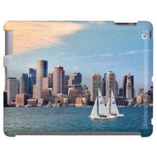 USA, Massachusetts. Boston Waterfront Skyline 3 iPad Case