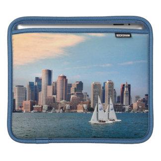 USA, Massachusetts. Boston Waterfront Skyline 3 iPad Sleeve