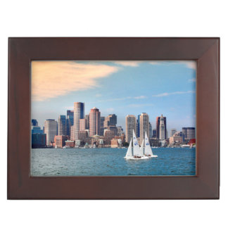 USA, Massachusetts. Boston Waterfront Skyline 3 Keepsake Box