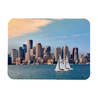 USA, Massachusetts. Boston Waterfront Skyline 3 Magnet