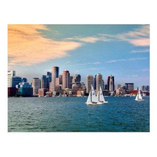 USA, Massachusetts. Boston Waterfront Skyline 3 Postcard