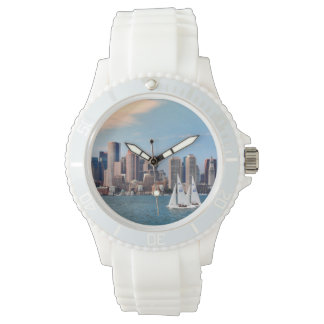 USA, Massachusetts. Boston Waterfront Skyline 3 Watch