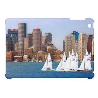 USA, Massachusetts. Boston Waterfront Skyline 4 Case For The iPad Mini