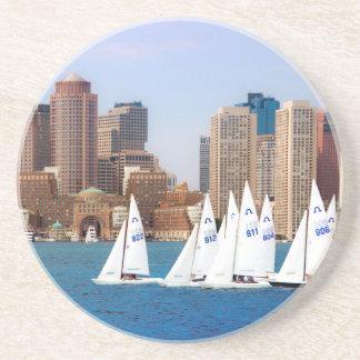 USA, Massachusetts. Boston Waterfront Skyline 4 Coaster