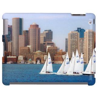 USA, Massachusetts. Boston Waterfront Skyline 4 iPad Case