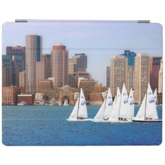 USA, Massachusetts. Boston Waterfront Skyline 4 iPad Cover