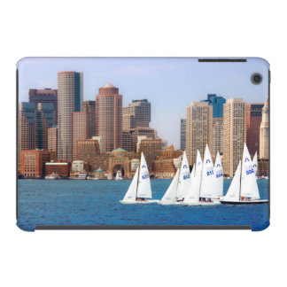 USA, Massachusetts. Boston Waterfront Skyline 4 iPad Mini Retina Covers
