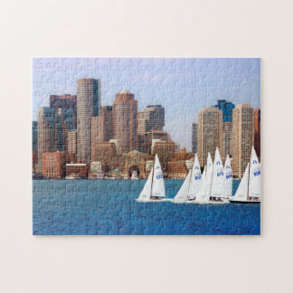 USA, Massachusetts. Boston Waterfront Skyline 4 Jigsaw Puzzle