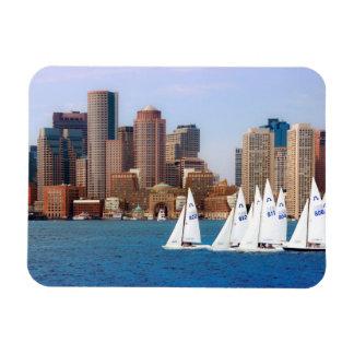 USA, Massachusetts. Boston Waterfront Skyline 4 Magnet