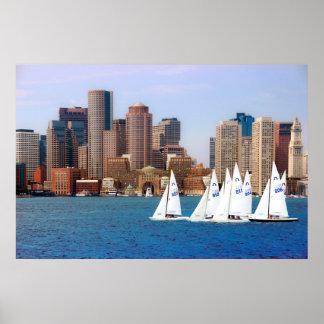 USA, Massachusetts. Boston Waterfront Skyline 4 Poster