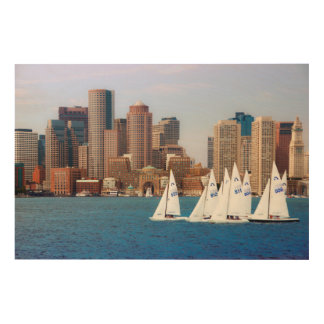 USA, Massachusetts. Boston Waterfront Skyline 4 Wood Print