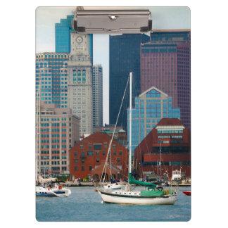 USA, Massachusetts. Boston Waterfront Skyline Clipboard